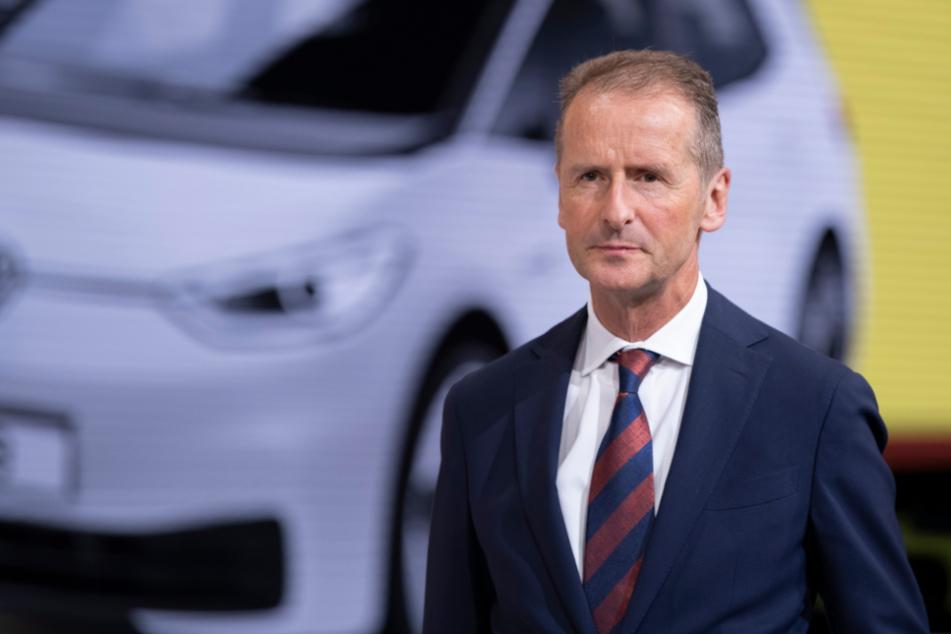 Frankfurt am Main: Herbert Diess, Vorstandsvorsitzender der Volkswagen AG, auf der IAA im September 2019.