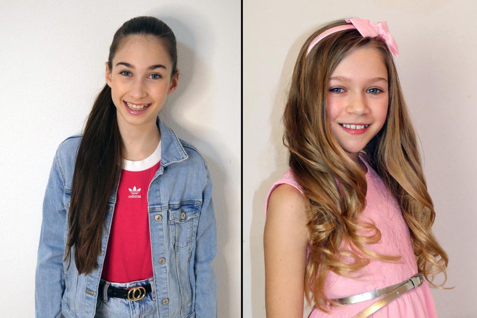 """Angelina Stecher-Williams' (11, l.) Mutter ist aus der """"Höhle der Löwen"""" bekannt und Jona Szewczenko (10) ist die Tochter einer bekannten ehemaligen Eiskunstläuferin. (Fotomontage)"""