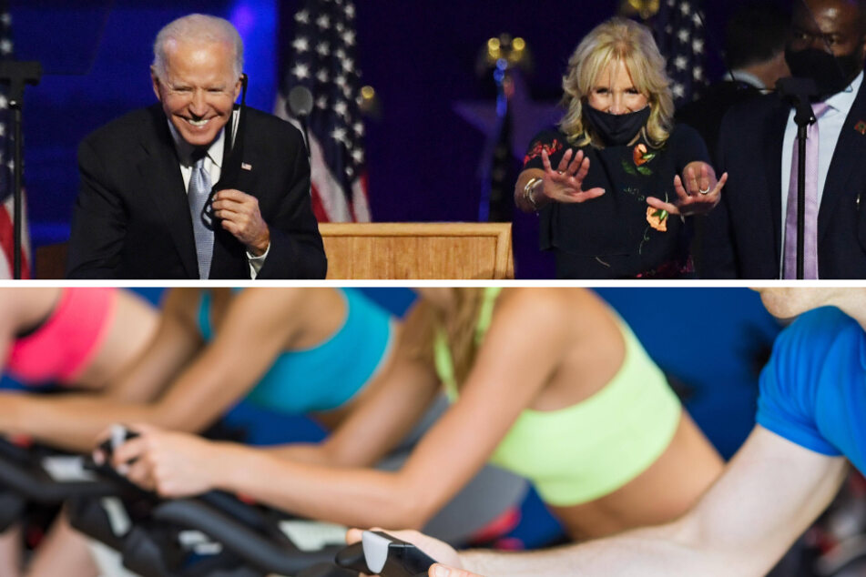 The president and first lady are said to be avid Peloton users.