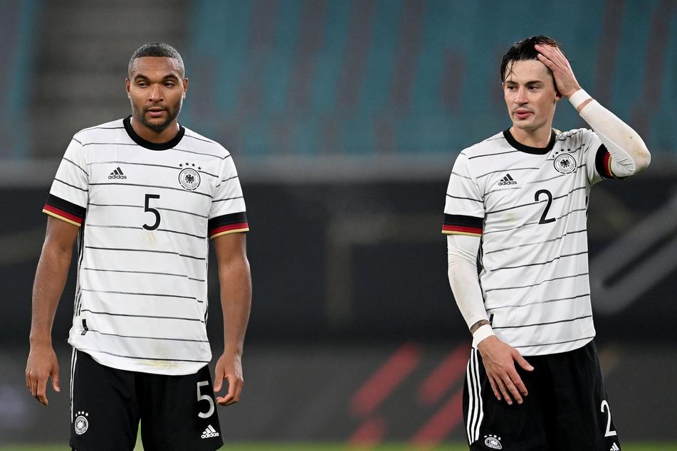 Im Spiel gegen die Ukraine nur einen Gegentreffer bekommen. Ggen Spanien waren es sechs für die deutsche Hintermannschaft. Jonathan Tah (24, li.) und Robin Koch (24).