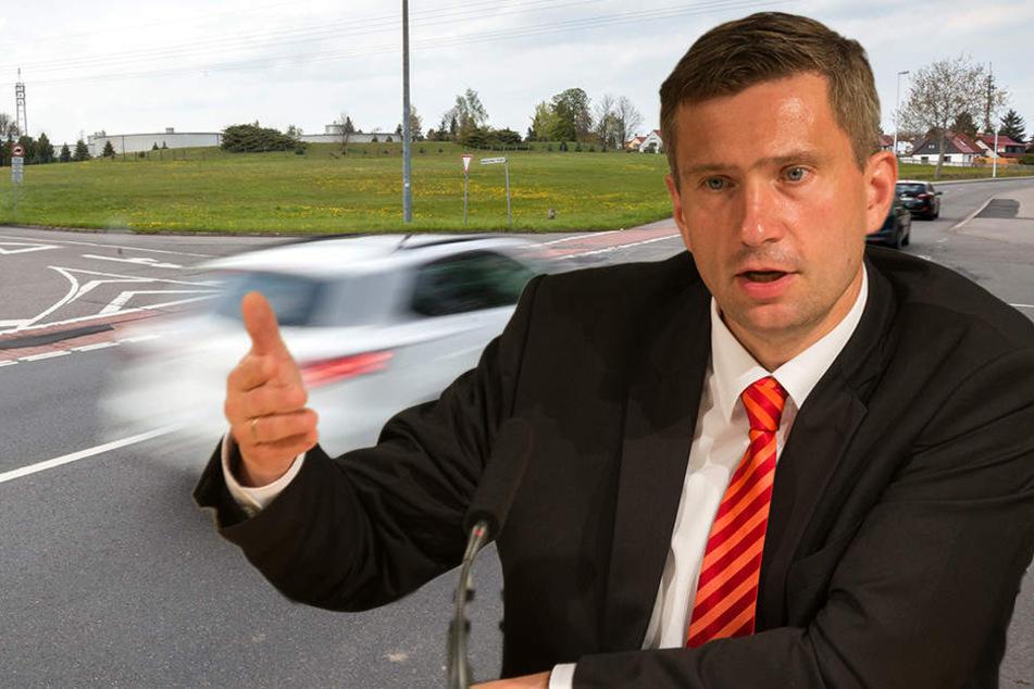 Minister Dulig wehrt sich im Kampf um Straßenbau