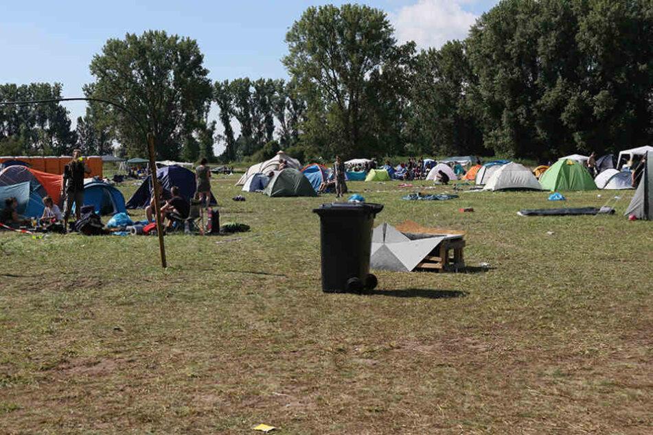 Bei Aufräumarbeiten nach dem SMS-Festival wurde ein Arbeiter schwer verletzt (Symbolbild).