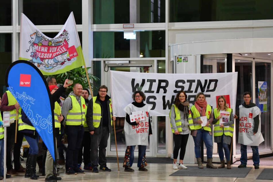 Bereits vor einer Woche wurde am Universitätsklinikum Jena gestreikt.