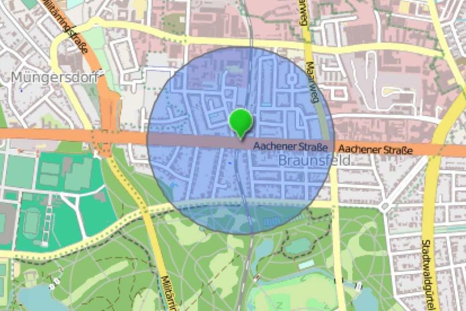 Das Gebiet mit einem Radius von 500 Metern rund um die Bombe muss evakuiert werden.