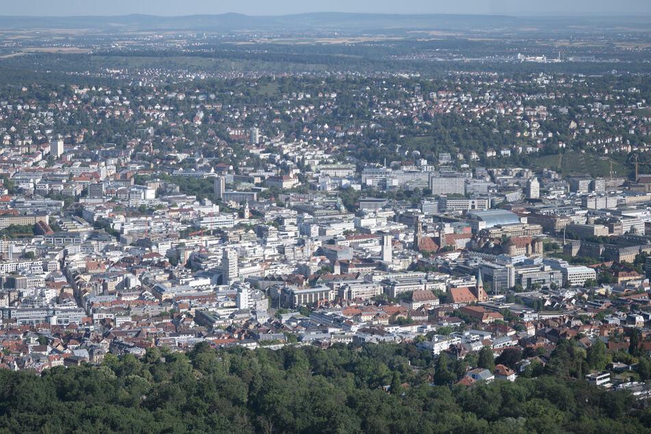 Die Stuttgarter Innenstadt vom Fernsehturm aus gesehen.