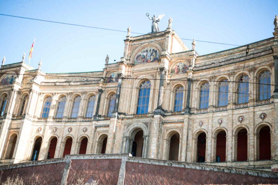 Blick auf den bayerischen Landtag.