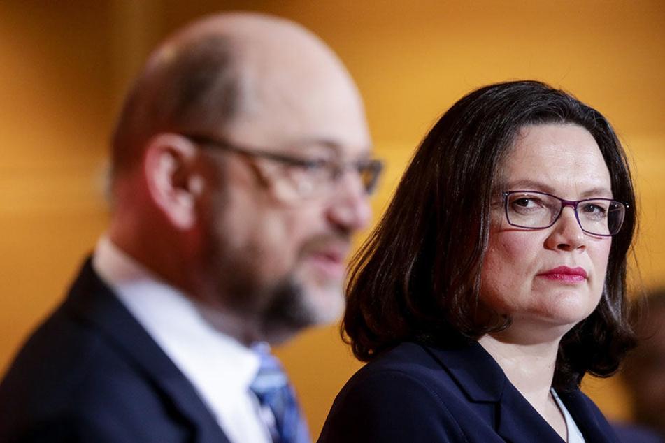 Löst Andrea Nahles schon heute Martin Schulz ab?