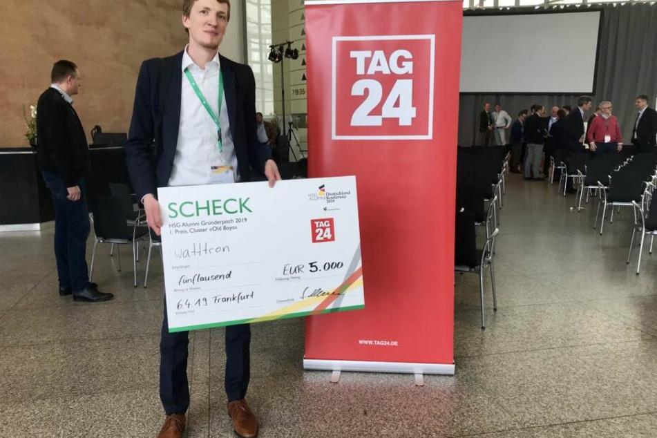 """Was für ein Zufall: Der Sieger """"watttron"""" mit CEO Marcus Stein ist ebenso in Dresden beheimatet wie TAG24."""