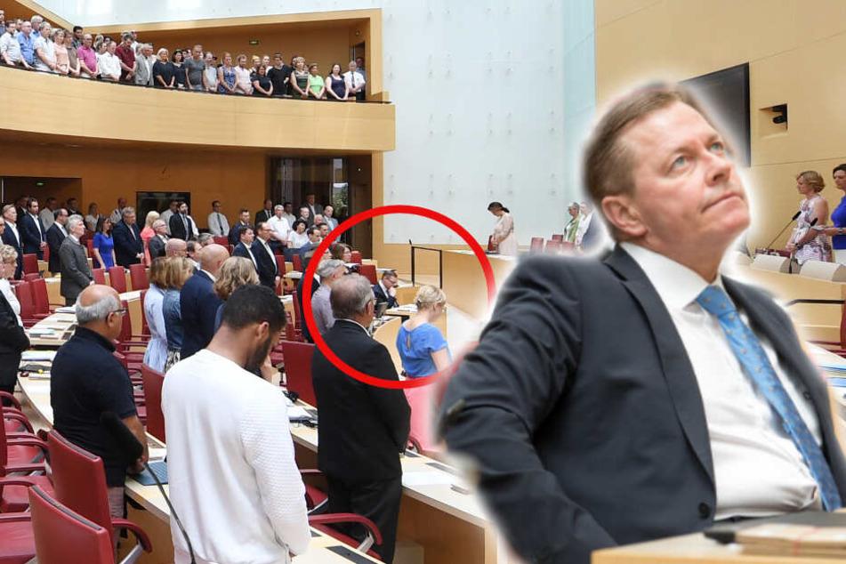 AfD-Mann Ralph Müller hatte es nicht nötig, sich im Landtag zu erheben.