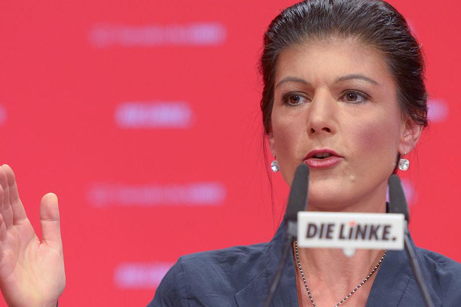 Die Linke-Fraktionsvorsitzende Sahra Wagenknecht kommt für den Wahlkampf nach Paderorn.