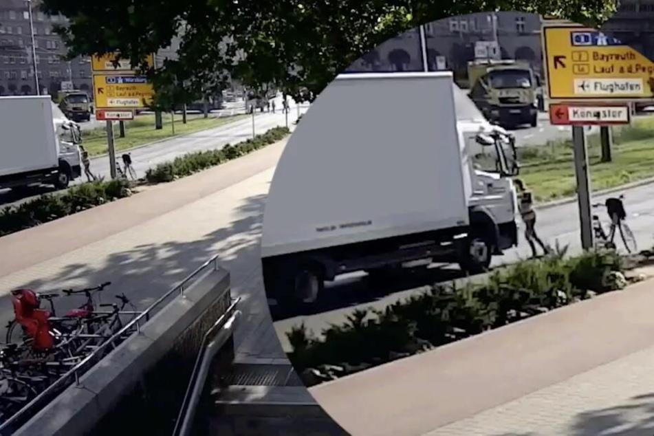 Eine Frau stieg von ihrem Rad ab und brachte den Ausreißer mit anderen Passanten zum Stillstand.