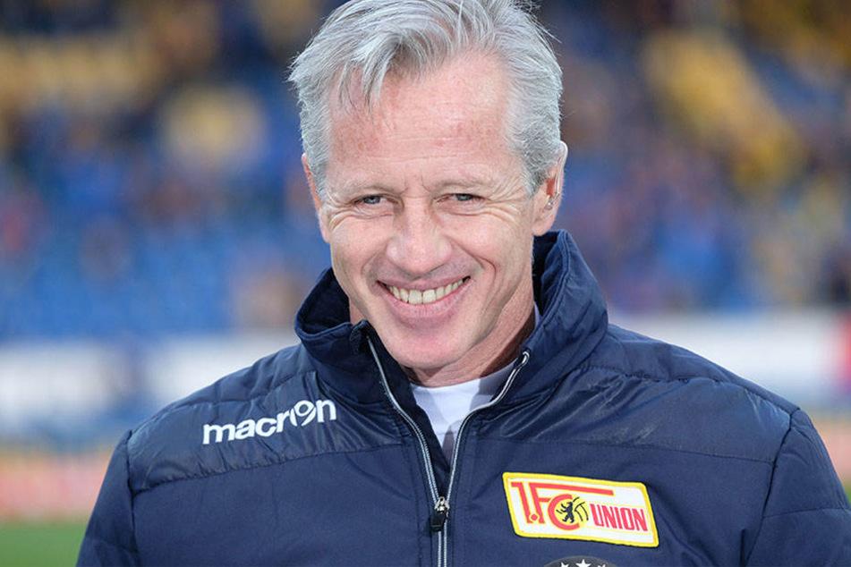 Jens Keller hat allen Grund zur Freude. Union Berlin ist zwar nicht aufgestiegen, feiert aber dennoch die erfolgreichste Saison ihre Zweitliga-Geschichte.