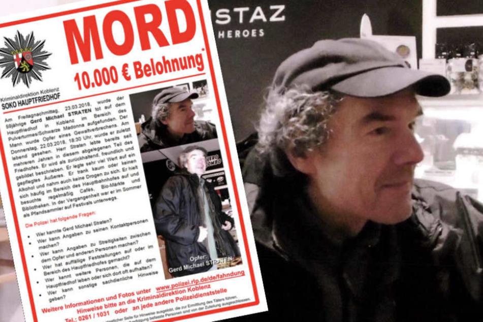 Auch ein halbes Jahr nach seiner grausamen Ermordung sucht die Polizei weiter nach dem Mörder von Gerd Michael Straten.