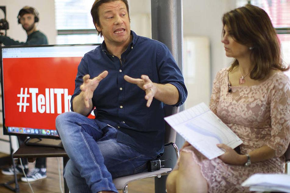 The Naked Chef - Jamie Oliver (41) - britischer Starkoch gab jetzt zu, dass er sich sein bestes Teil verbrannt hatte.