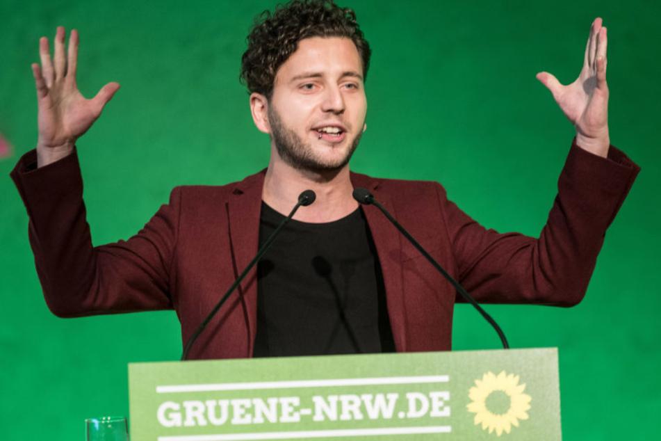 Felix Banaszak (28) ist am Samstag als neuer Vorsitzender der NRW-Grünen gewählt worden.