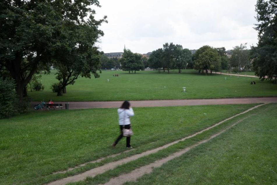 Im Alaunpark wurde einer Studentin jetzt das Handy geraubt.
