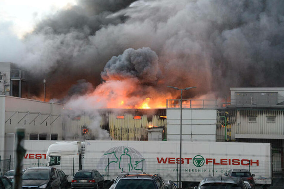 Am 8. Februar 2016 brach das Feuer bei Westfleisch in Paderborn aus.