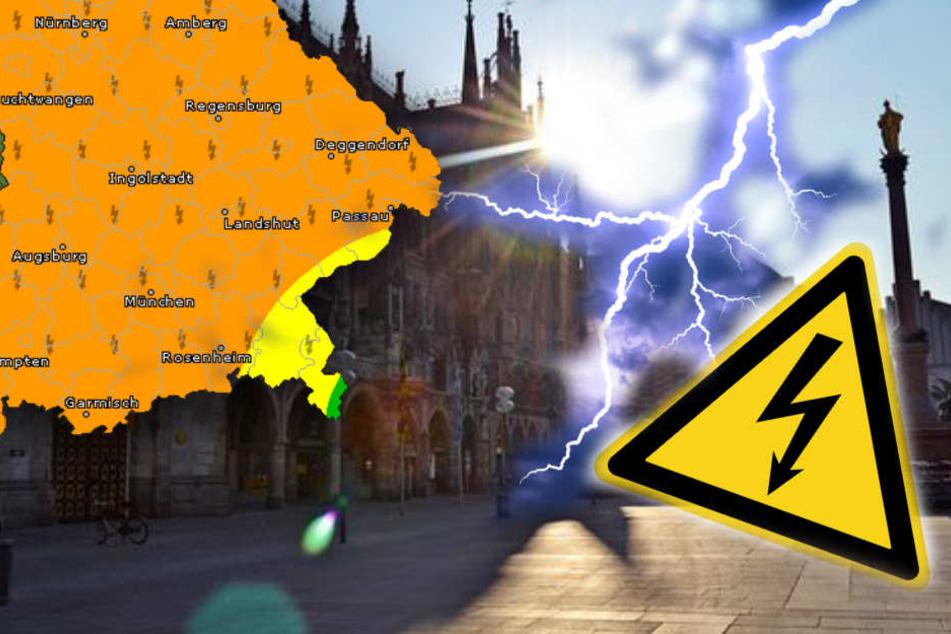 In Bayern gibt es am Wochenende Gewitter.