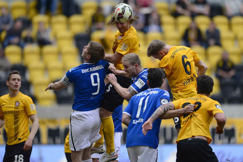 Leider stand bei den Partien zwischen Dynamo und Bielefeld der sportliche Aspekt nicht immer im Vordergrund.