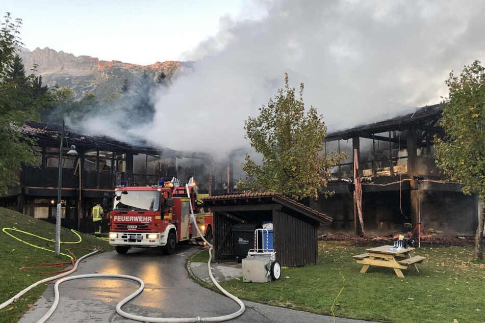 Von dem Gebäude ist nach dem Brand nur noch eine Ruine übrig.