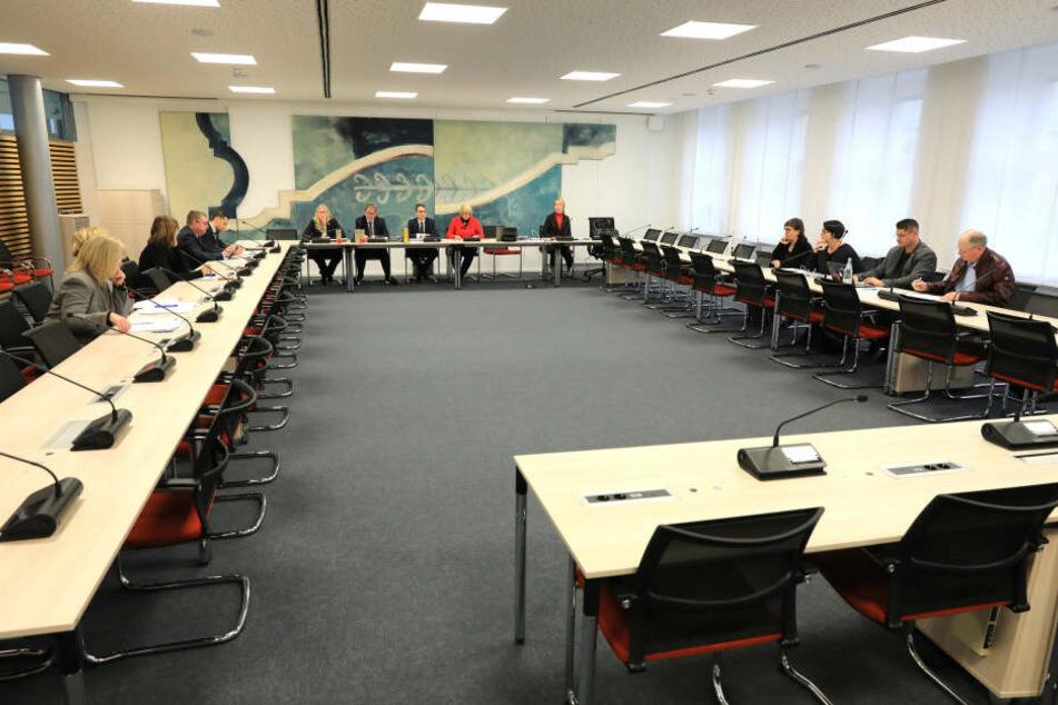 Neun Mitglieder hat der Untersuchungsausschuss am Landtag in Magdeburg.