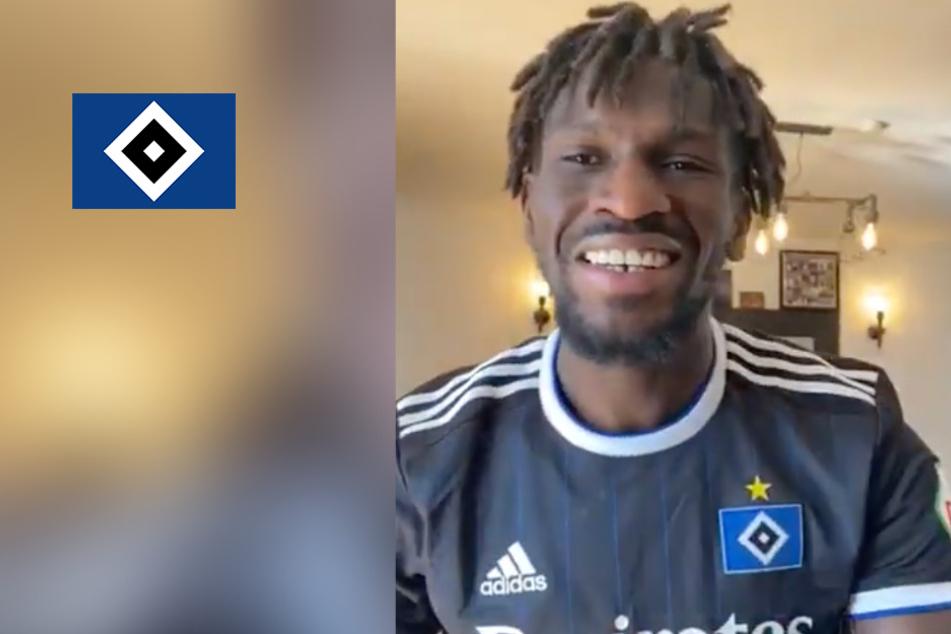 """""""Mein Hamburg lieb' ich sehr"""": Hier schmettert Bakery Jatta die HSV-Hymne"""