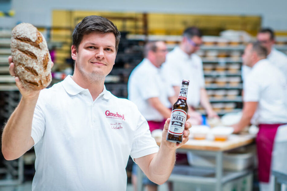 Juniorchef Benjamin Groschupf (32) bringt Brot und Bier zusammen.