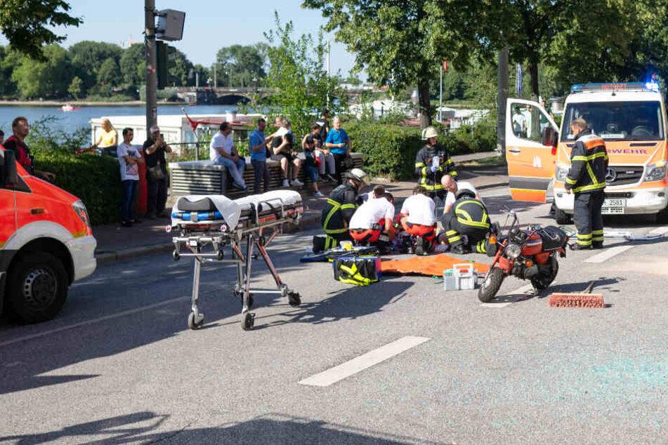 Unfall mit Pocket Bike: Mann erleidet schwere Verletzungen