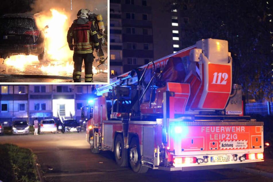 Immer wieder Grünau-Plattenbauten: Feuerwehr wird zweimal alarmiert