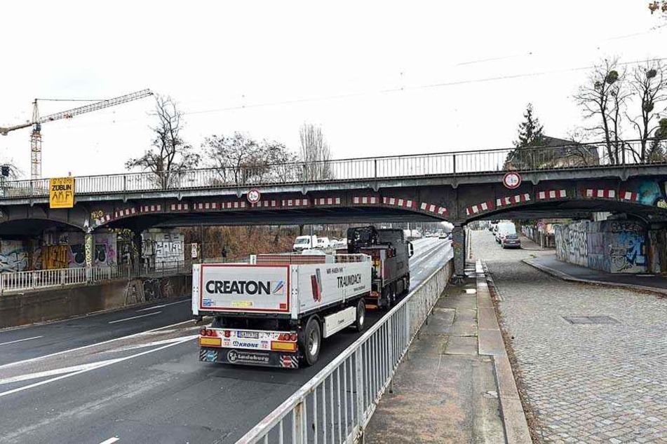 Eine Brücke soll den Dammweg hier über die Stauffenbergallee führen.