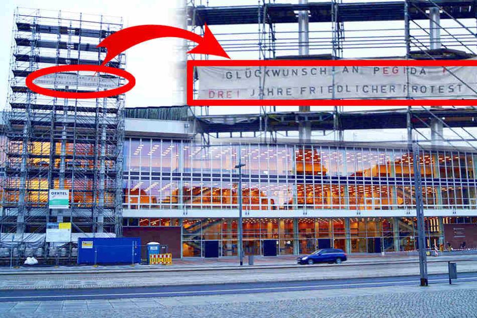 Schon wieder: PEGIDA-Plakat am Kulti aufgehängt