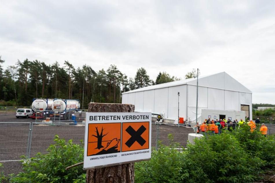 Chemiewaffenreste: Über 10.000 Granaten in Teich vermutet!