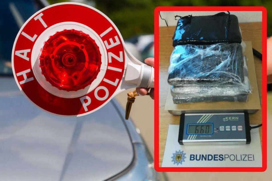 Die Polizei präsentierte ihren überraschenden Drogenfund.