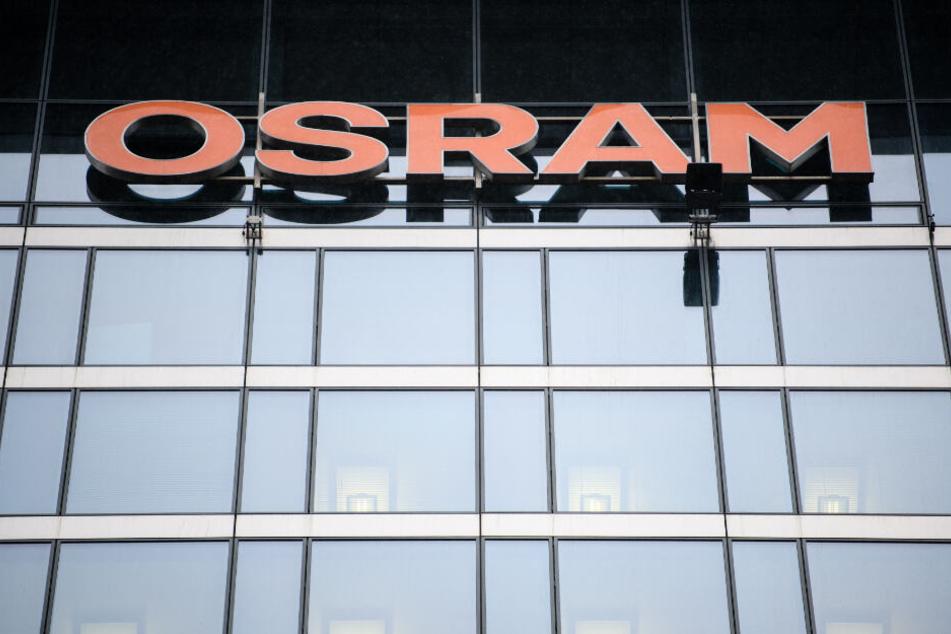 Das Osram-Logo an der Zentrale in München.