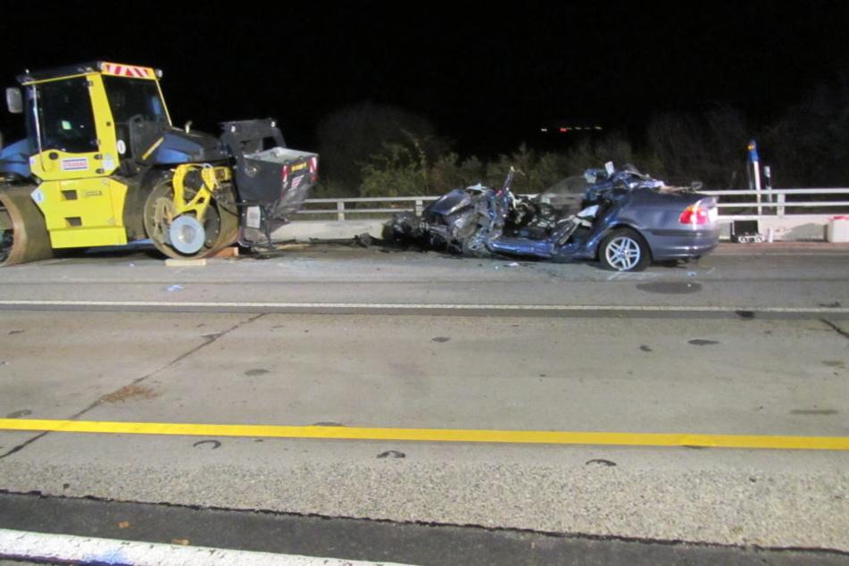 Das Auto war nach dem Unfall kaum noch wiederzuerkennen.
