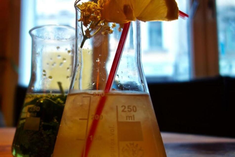 Das Pizza Lab könnte man tatsächlich als Labor betrachten - nicht nur mit den Drinks wird herumexperimentiert.