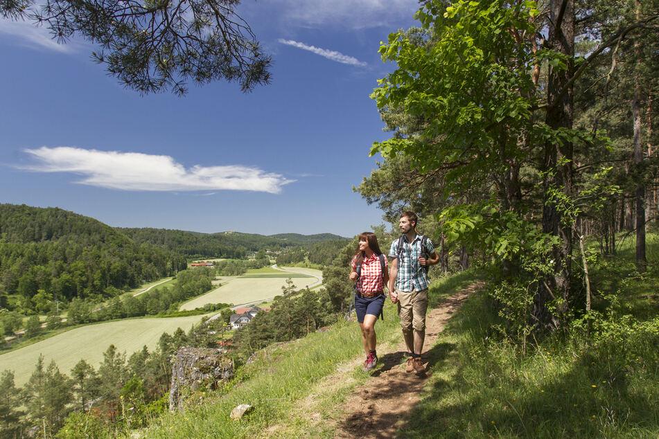 Der Jurasteig führt u.a. durch Ransbach und bietet fantastische Blicke ins Tal.