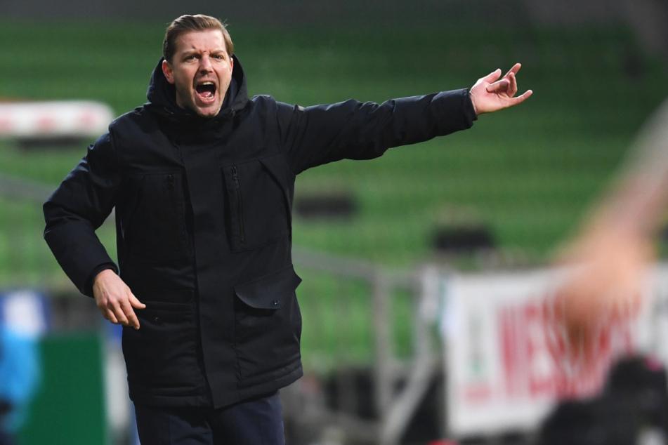 Werder-Coach Florian Kohfeldt (38) war mit der Leistung seiner Mannschaft überhaupt nicht einverstanden.