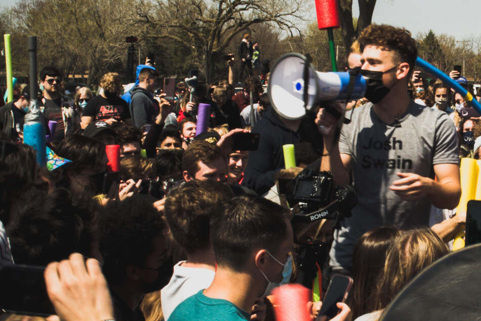 Hundreds of Joshes battle it out with pool noodles for the Ultimate Josh title