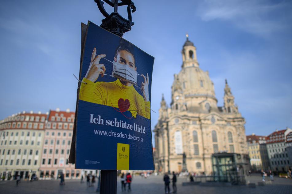 In Dresden sinkt die 7-Tage-Inzidenz. Die Zahl der Menschen, die in Zusammenhang mit Covid-19 verstarben, erhöht sich um sechs.