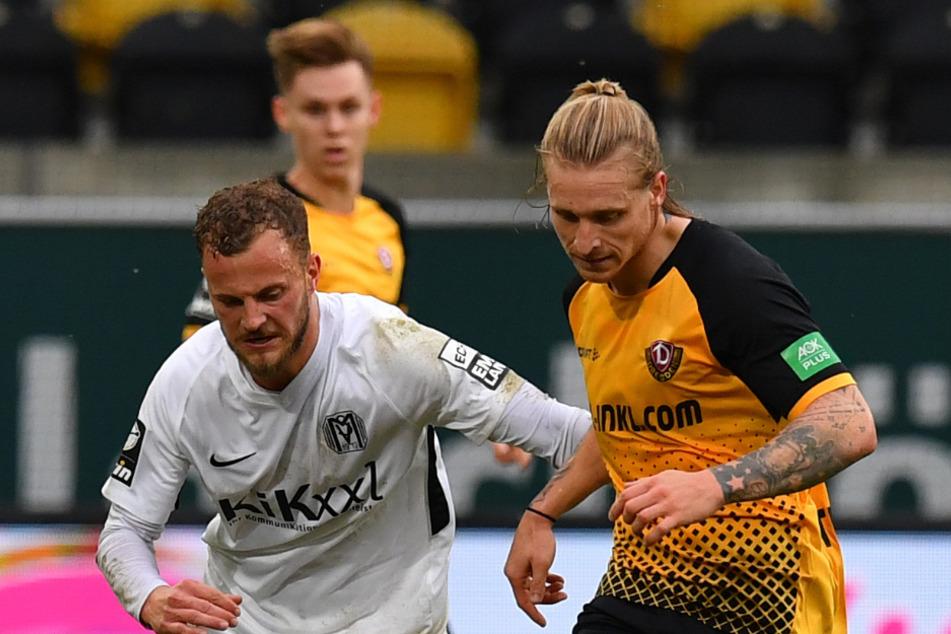 Beim letzten Heimspiel gegen den SV Meppen spielte Marvin Stefaniak (r.) stark. Das will er am Sonntag gegen den TSV 1860 München wiederholen.