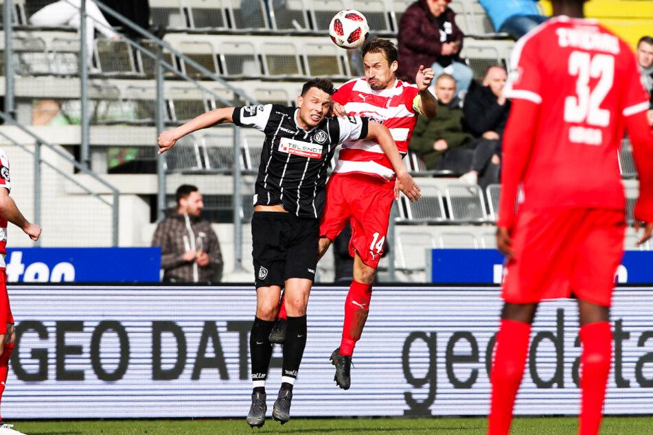 Petar Sliskovic (l.) war erst im vergangenen Sommer von Drittliga-Absteiger VfR Aalen zum MSV Duisburg gewechselt, wo er über eine Rolle als Ersatzspieler aber nicht hinauskam.