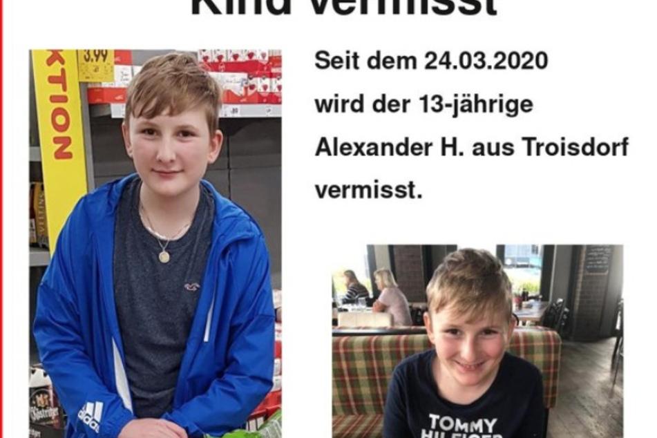 Alexander (13) vermisst: Eltern und Polizei suchen den Jungen