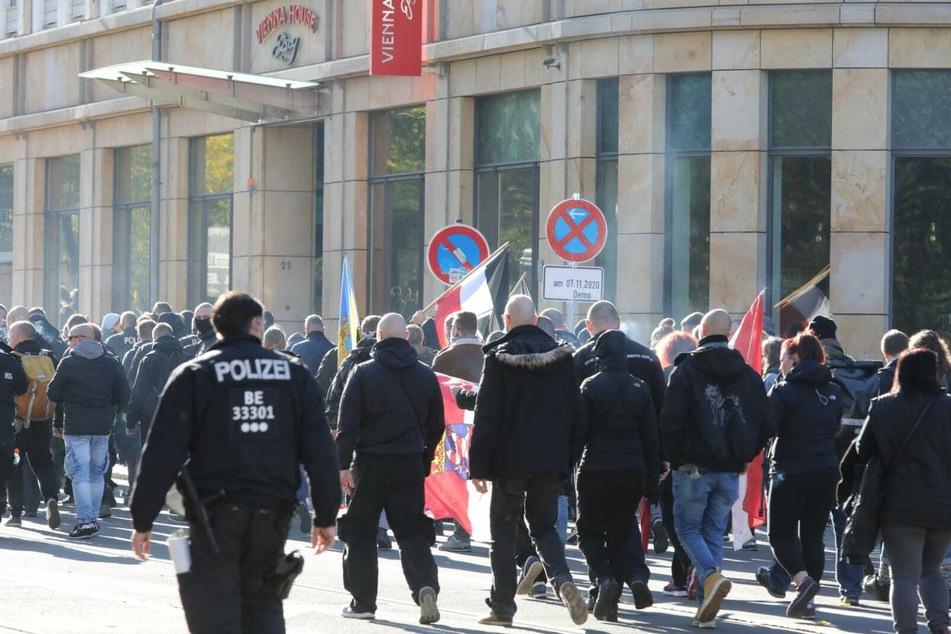 """Vor zwei Wochen hatten sich mindestens 20.000 Menschen zur """"Querdenken""""-Demo in Leipzig versammelt."""