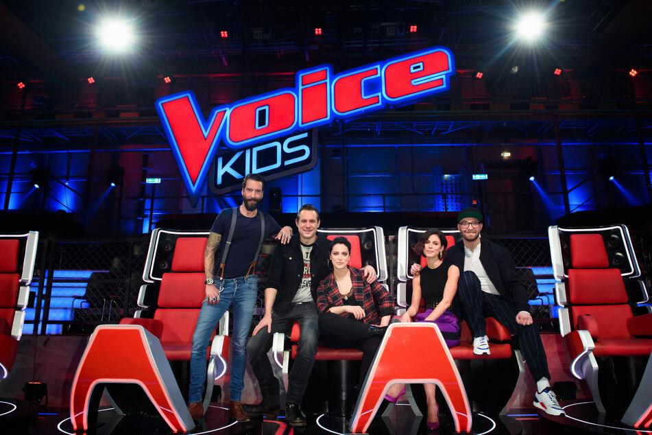Die Coaches von The Voice Kids 2019 (Foto: Gregor Fischer/dpa).