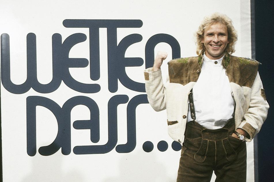 """So moderierte Thomas Gottschalk am 8. Oktober 1988 die Show """"Wetten dass..?"""" in Linz."""