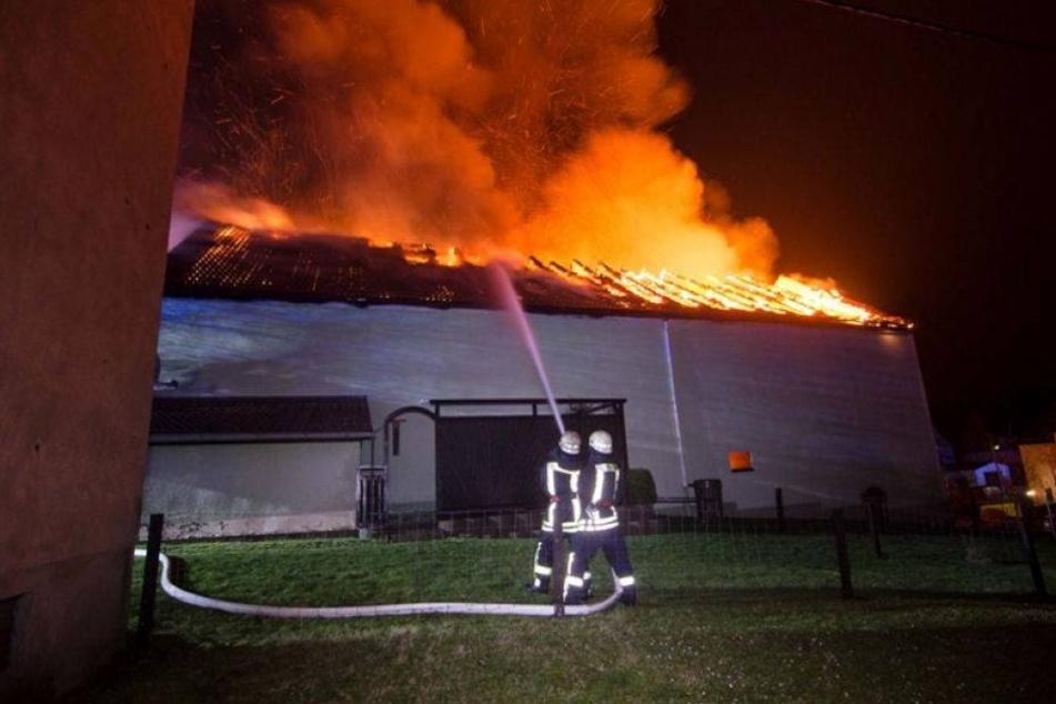 Sachsens Feuerwehren im Dauereinsatz