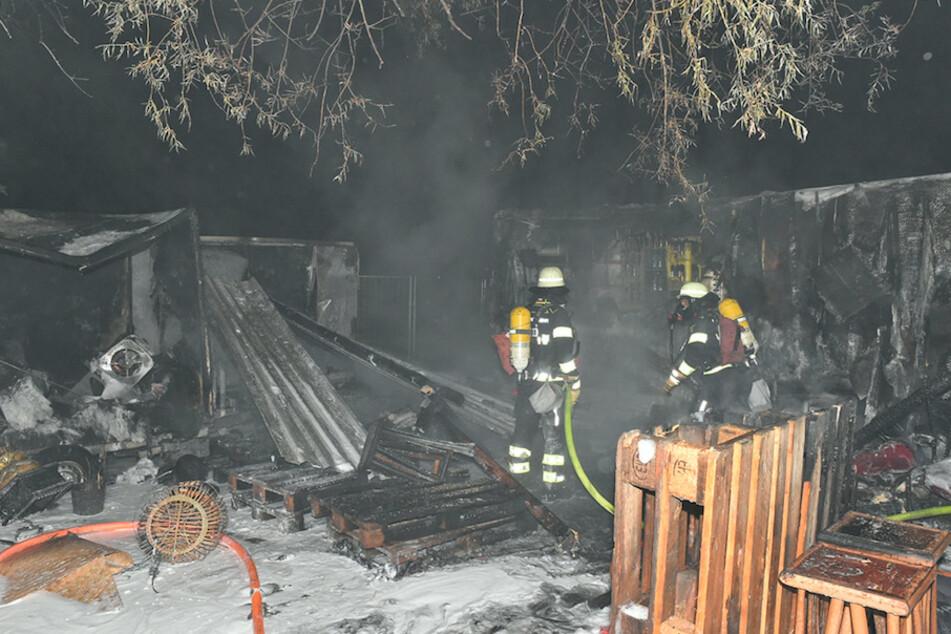 Eineinhalb Stunden kämpften die Einsatzkräfte gegen die Flammen.