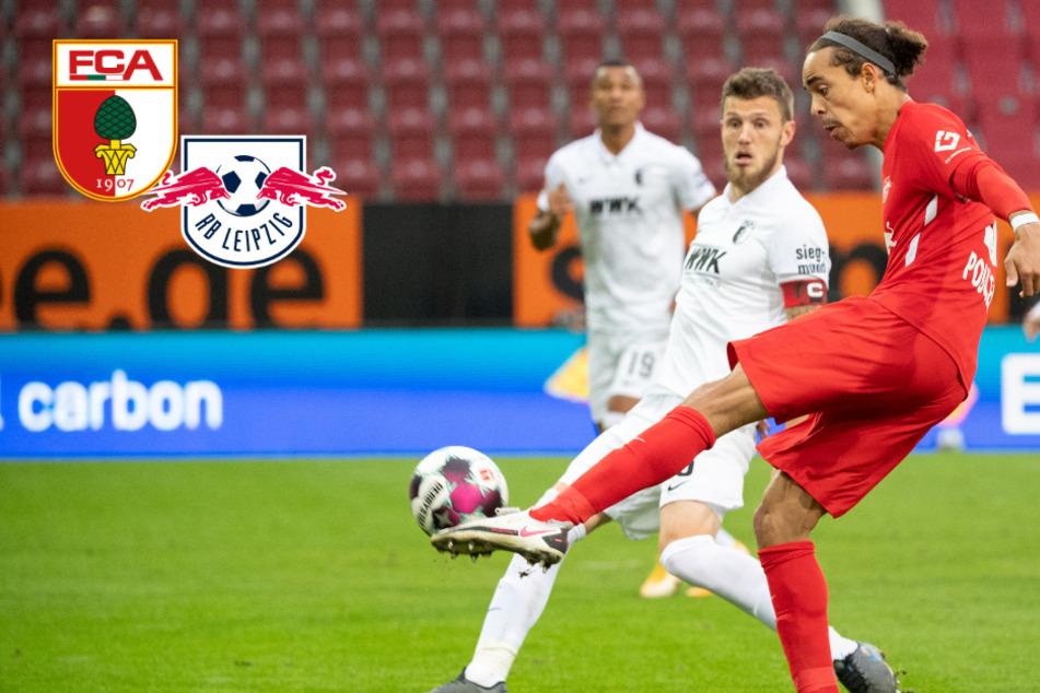 Mit der ersten Berührung! Joker Poulsen zaubert RB Leipzig zum Topspiel-Dreier in Augsburg