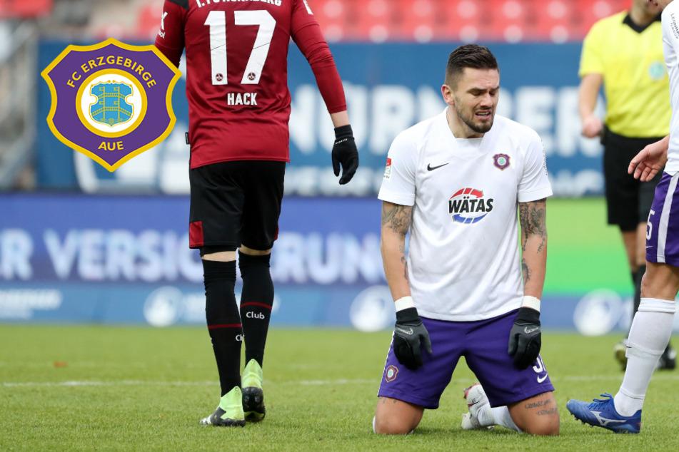 Viele Chancen, kein Tor: FC Erzgebirge Aue kassiert bittere Pleite in Nürnberg!